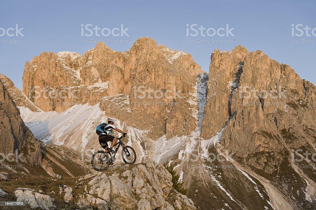 This is true mountain biking stock photo