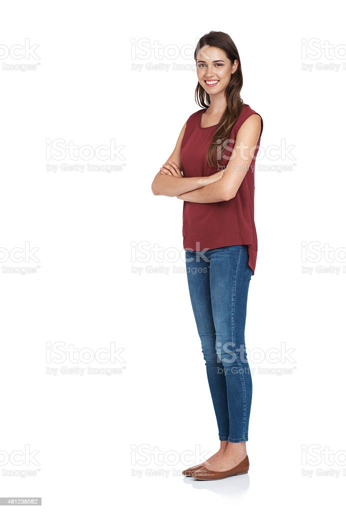 This is what confidence looks like stock photo