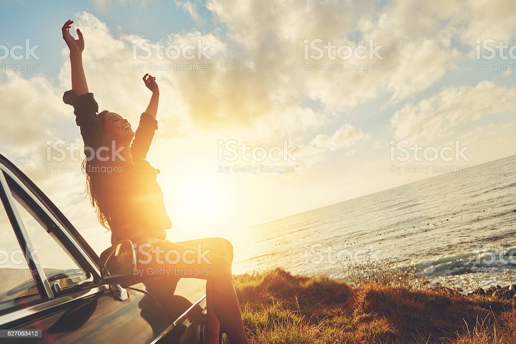 This is what freedom feels like stock photo
