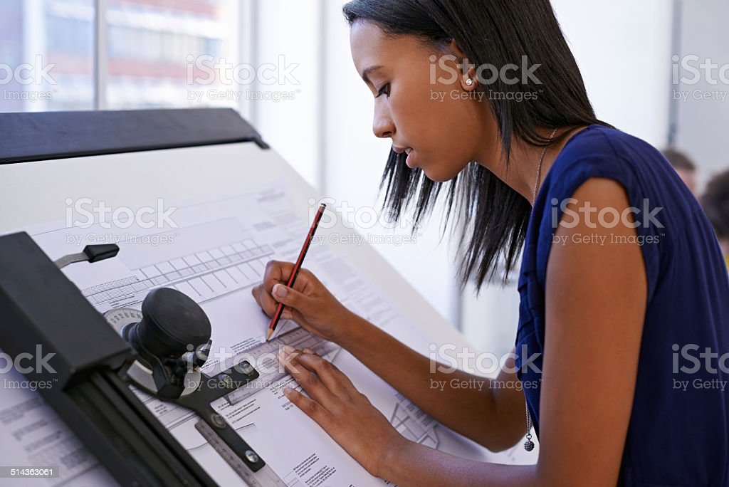 This is what she does best stock photo