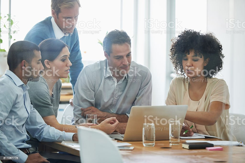 This is what teamwork looks like stock photo