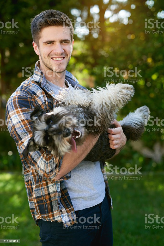 This is what unconditional love looks like stock photo