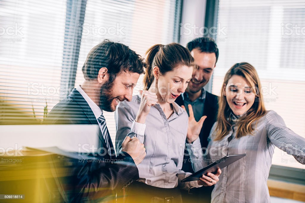 This is what we wanted! stock photo