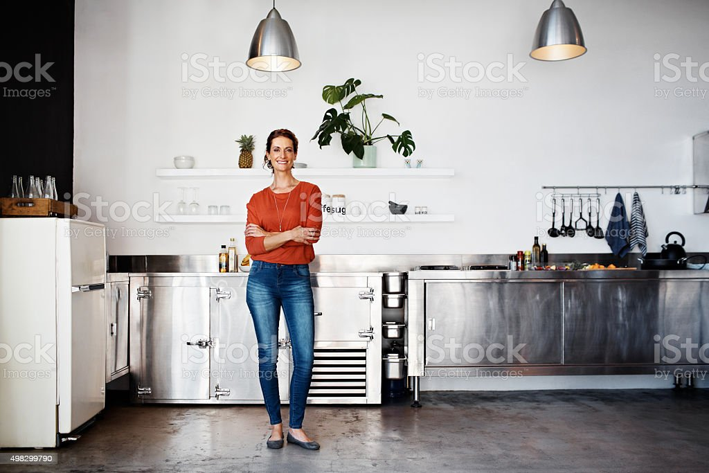 This is where I work my culinary magic! stock photo