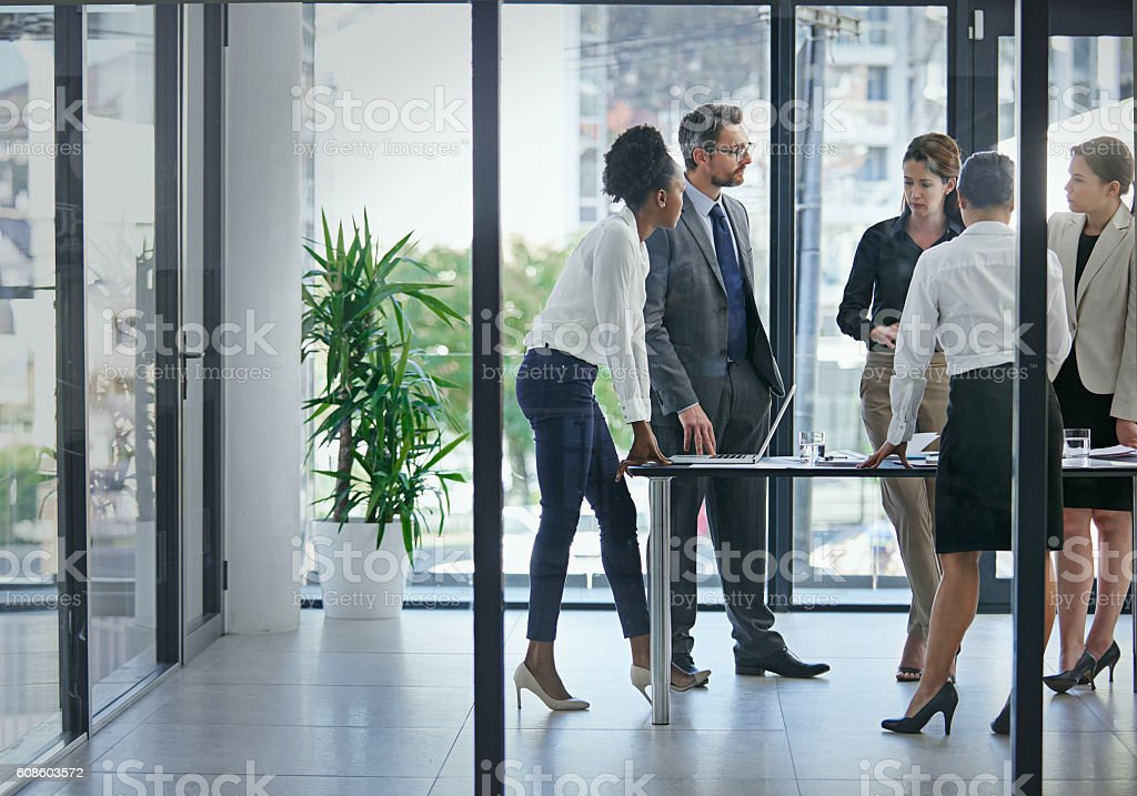 This is where profits are born stock photo