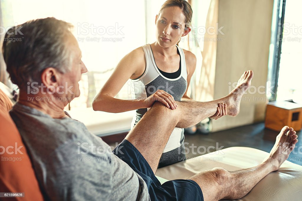 This is where stroke sufferers regain their balance stock photo