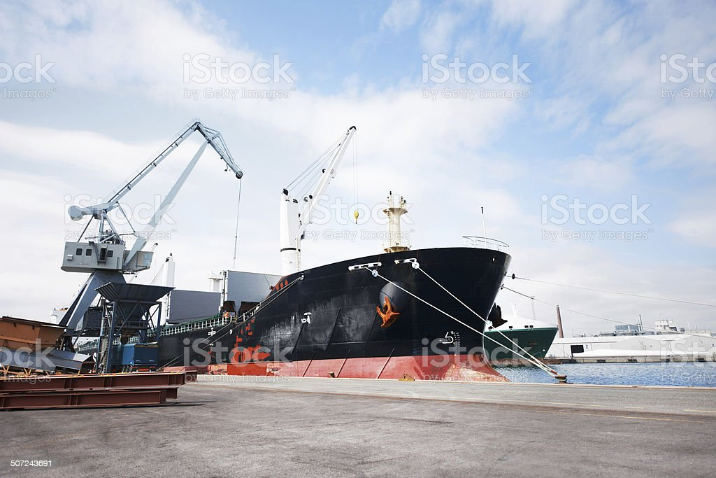 This is where the goods depart stock photo