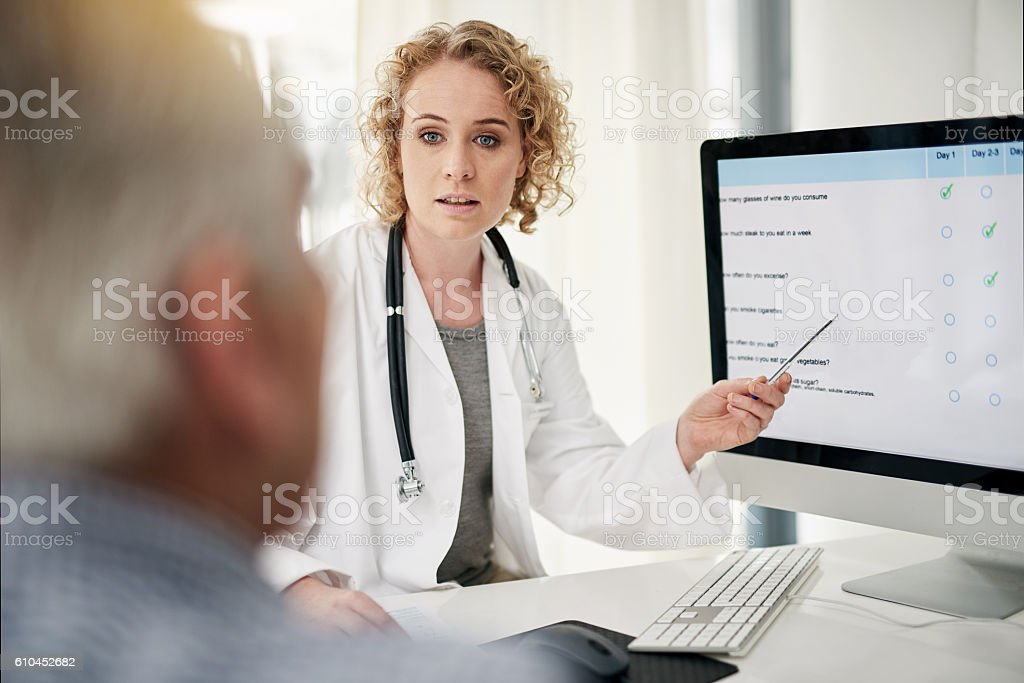 This is your course of treamtent stock photo