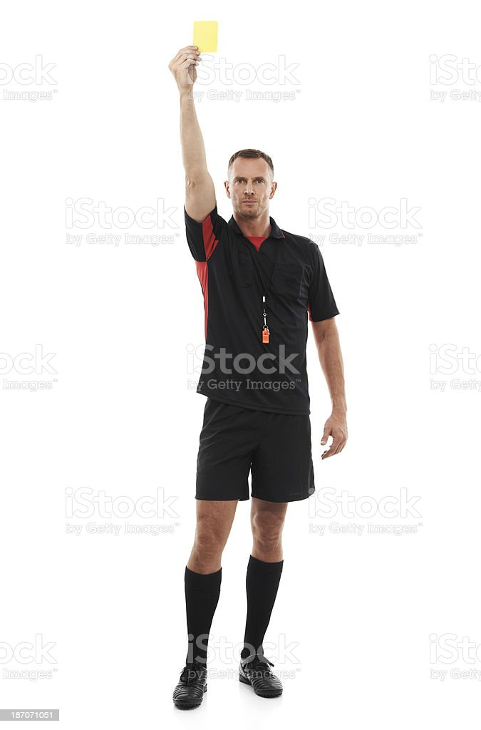 This is your final warning! stock photo