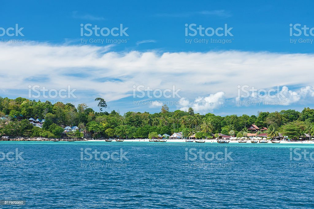 This island paradise possesses the natural beauty stock photo