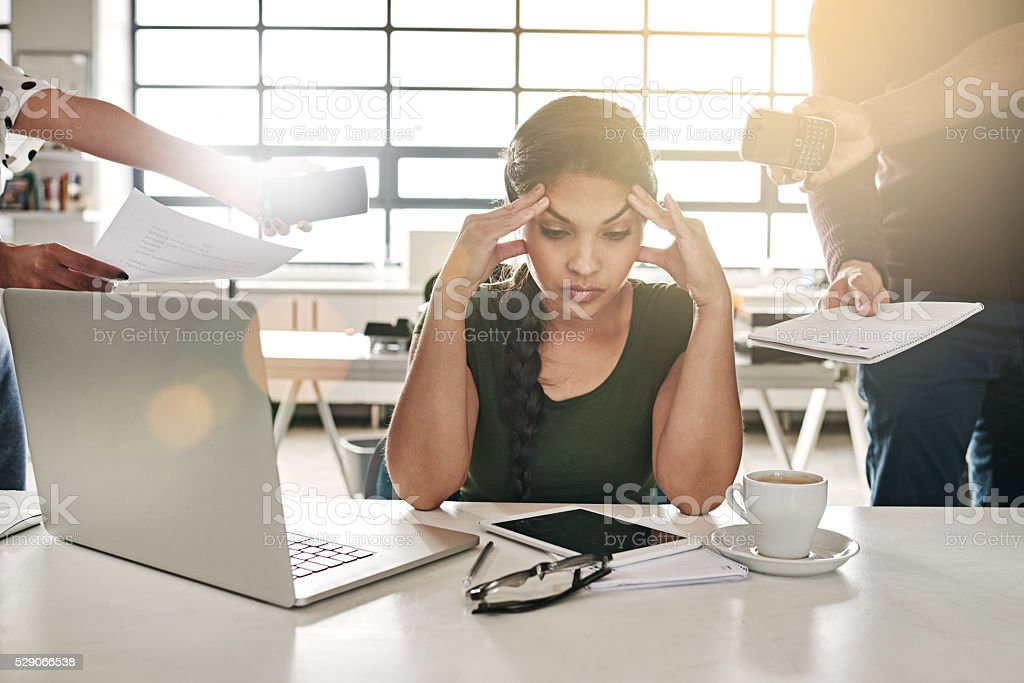This job is seriously stressing me out stock photo