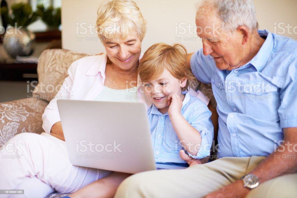 This laptop is so much fun! royalty-free stock photo