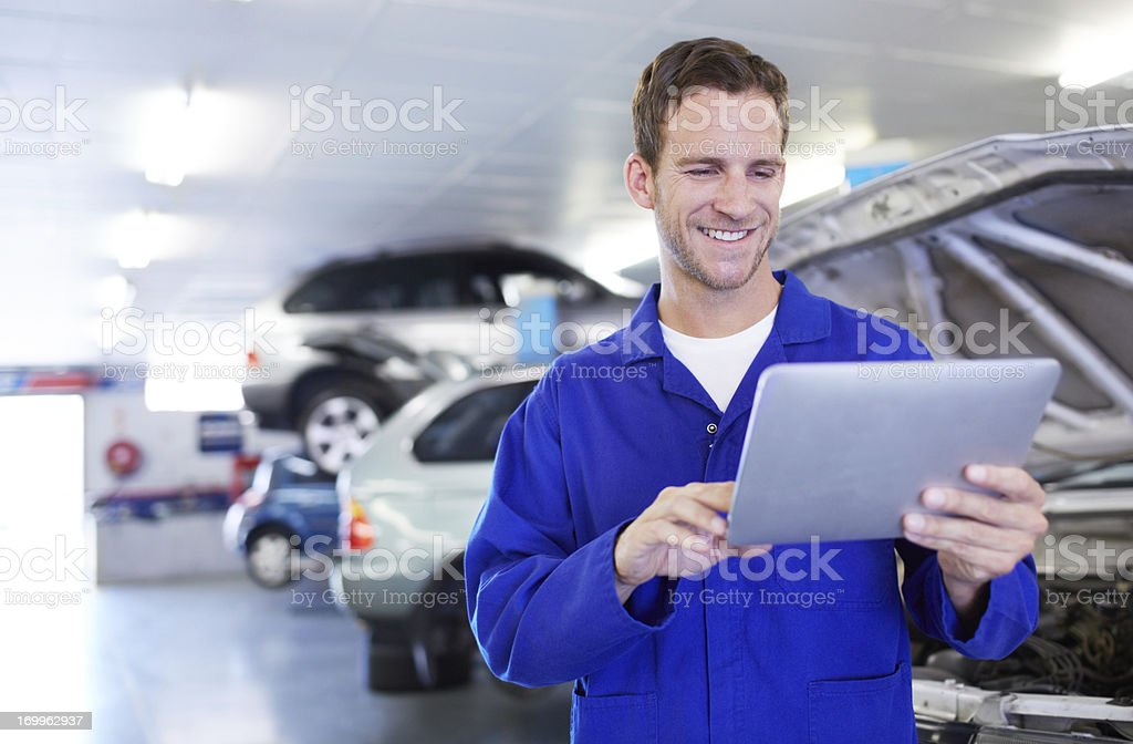 This makes his job so much easier! stock photo