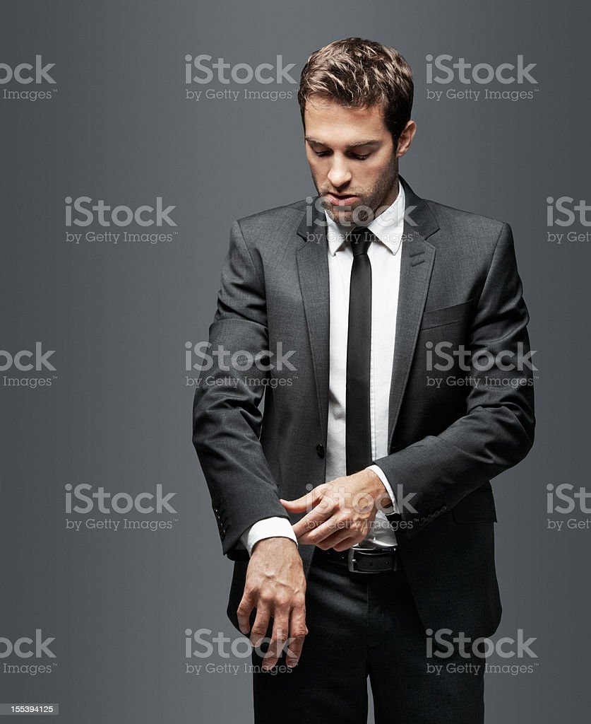This man understands the value of classic style stock photo