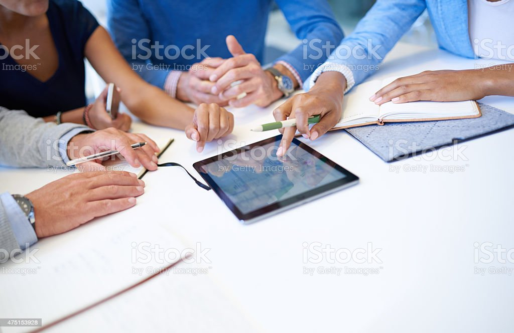 This meeting's gone digital stock photo