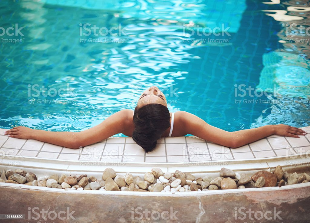 This must be the water of the gods stock photo