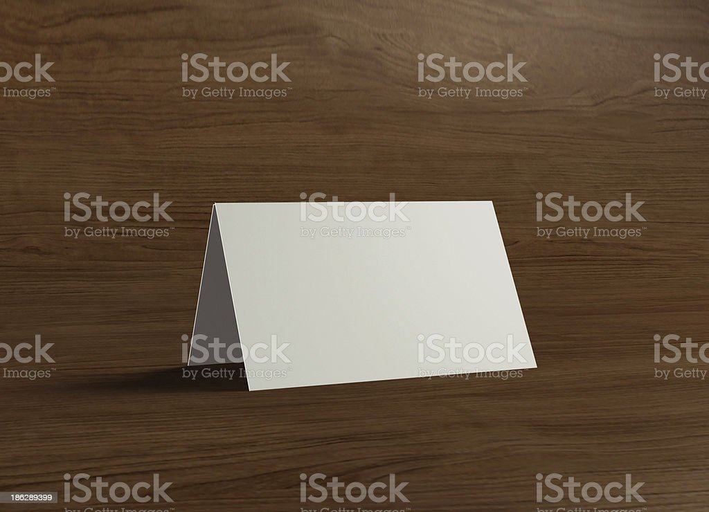 This name stand presentation wood 1 stock photo
