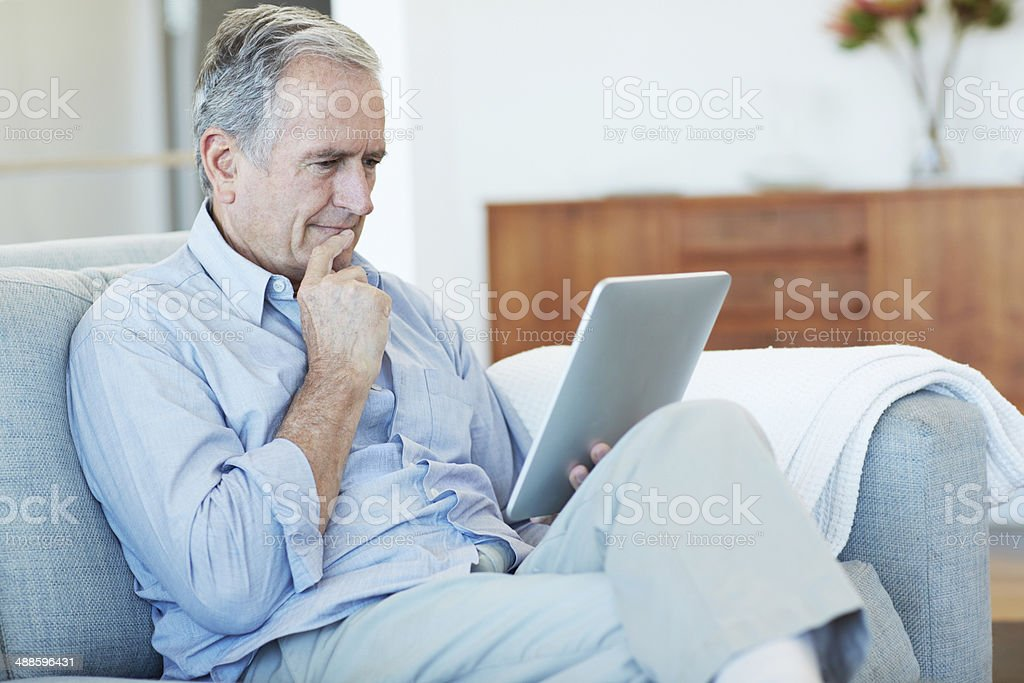 This old dog's learning some new tricks stock photo