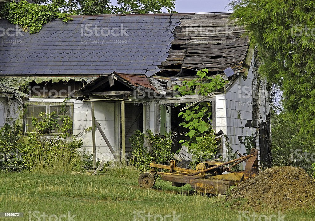 This Old House is Falling Down royalty-free stock photo