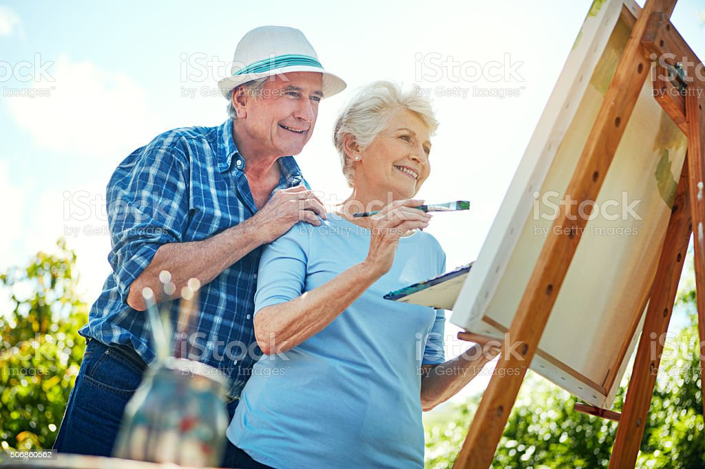 This one's coming along nicely stock photo