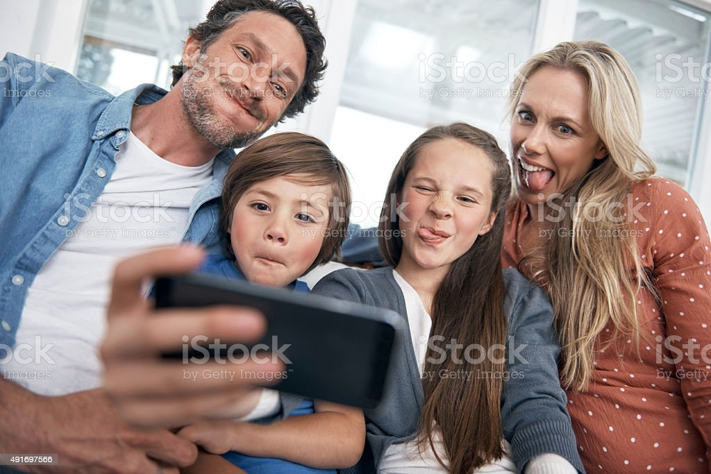 This one's for the family album! stock photo