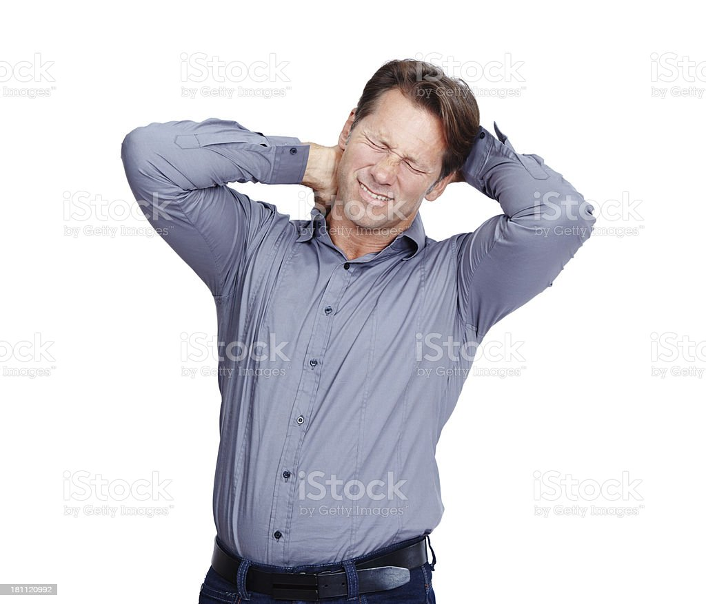 This pain is unbearable royalty-free stock photo
