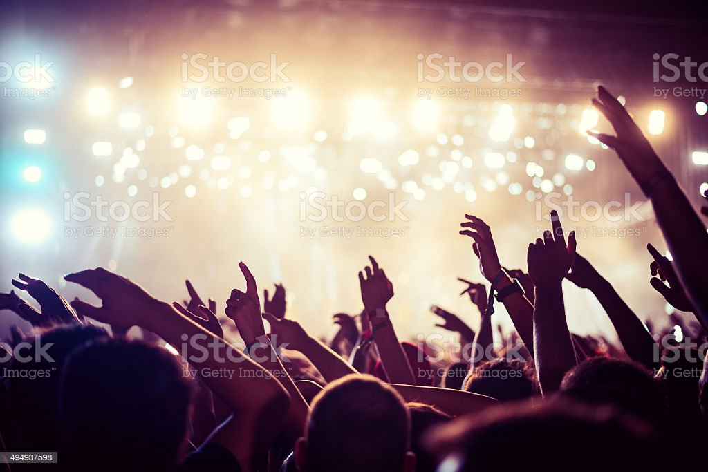 This party's on fire stock photo