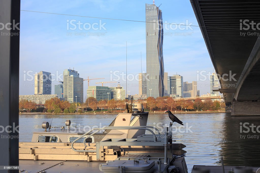 This pic shows Unocity, Donaucity in Vienna stock photo