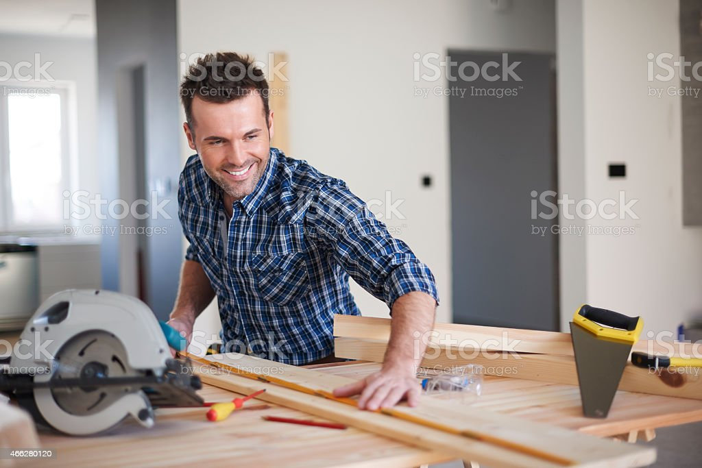 This plank will be perfect for new bookshelf stock photo