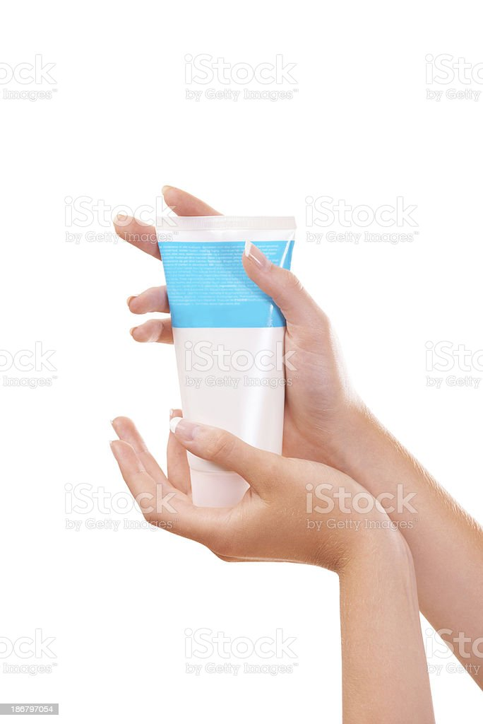 This product is great at keeping your skin healthy royalty-free stock photo
