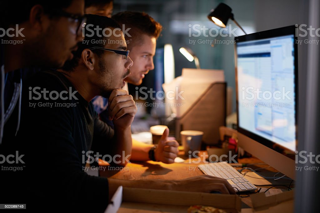 This project is going to need a lot of overtime stock photo