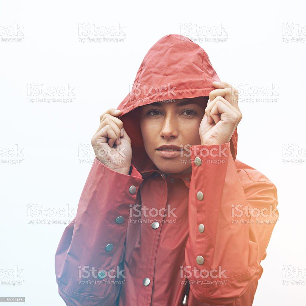 This rain came outta nowhere stock photo