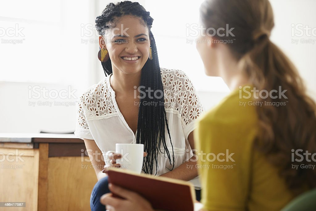 This review is going great! stock photo