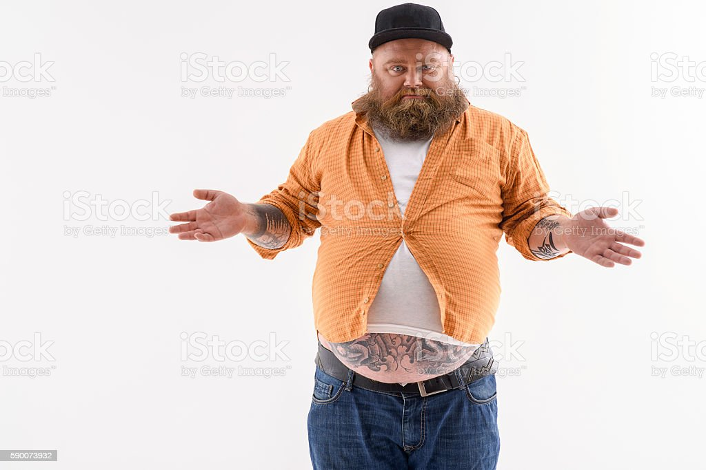 This shirt is not tight for me stock photo