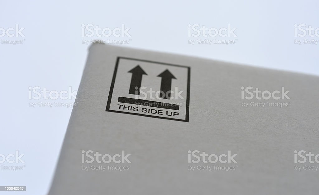 This side up royalty-free stock photo
