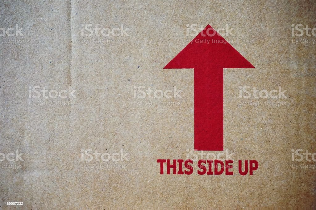 this side up sign stock photo