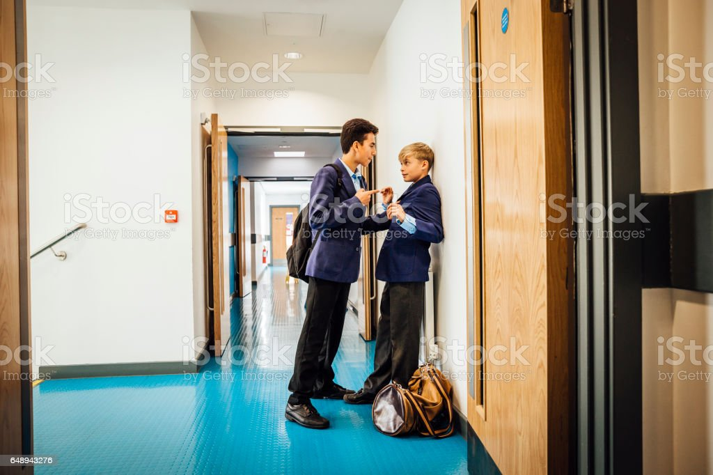 This Student is  a Big Bully stock photo