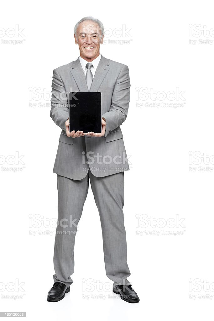 This tablet is an integral part of my business royalty-free stock photo