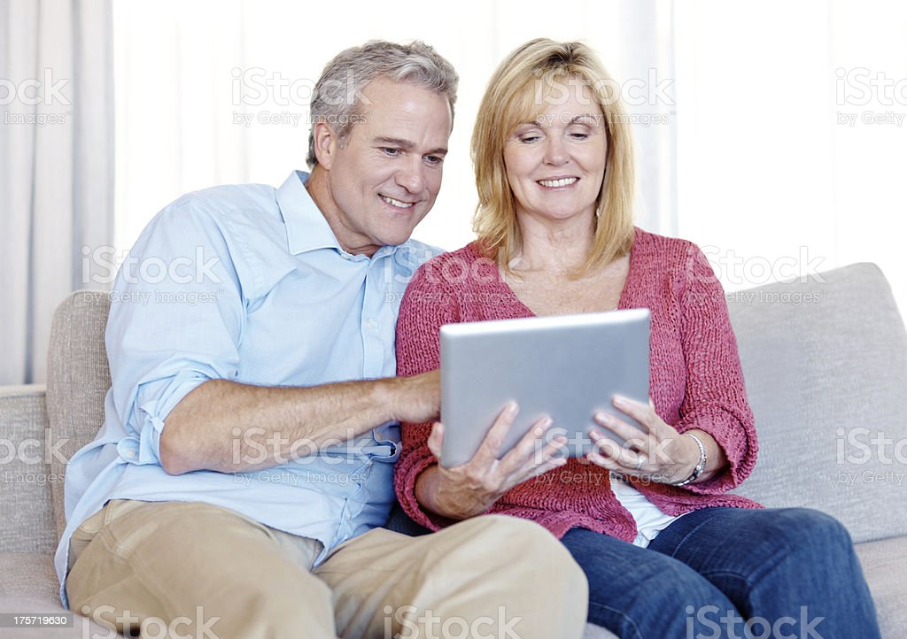 This tablet is astounding... royalty-free stock photo