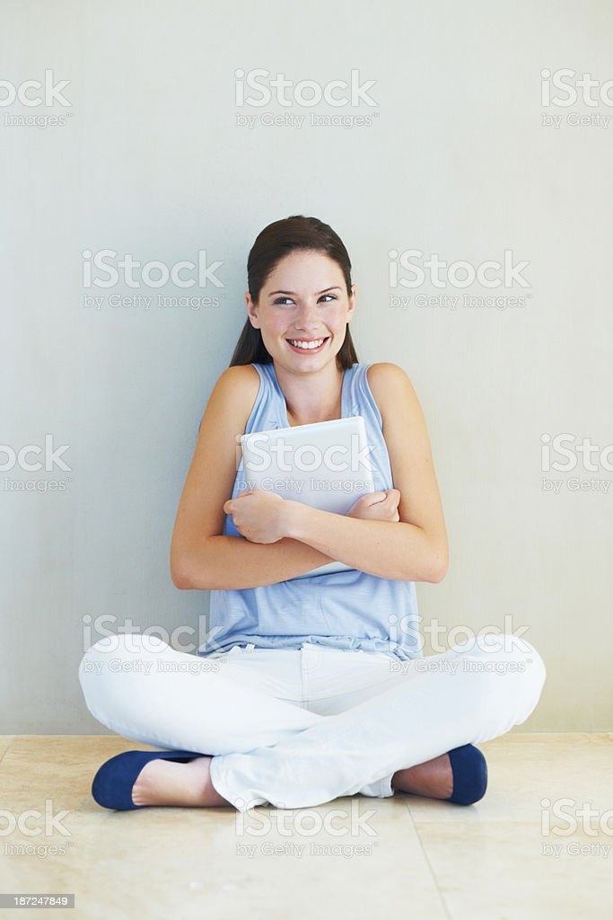 This tablet is so awesome royalty-free stock photo