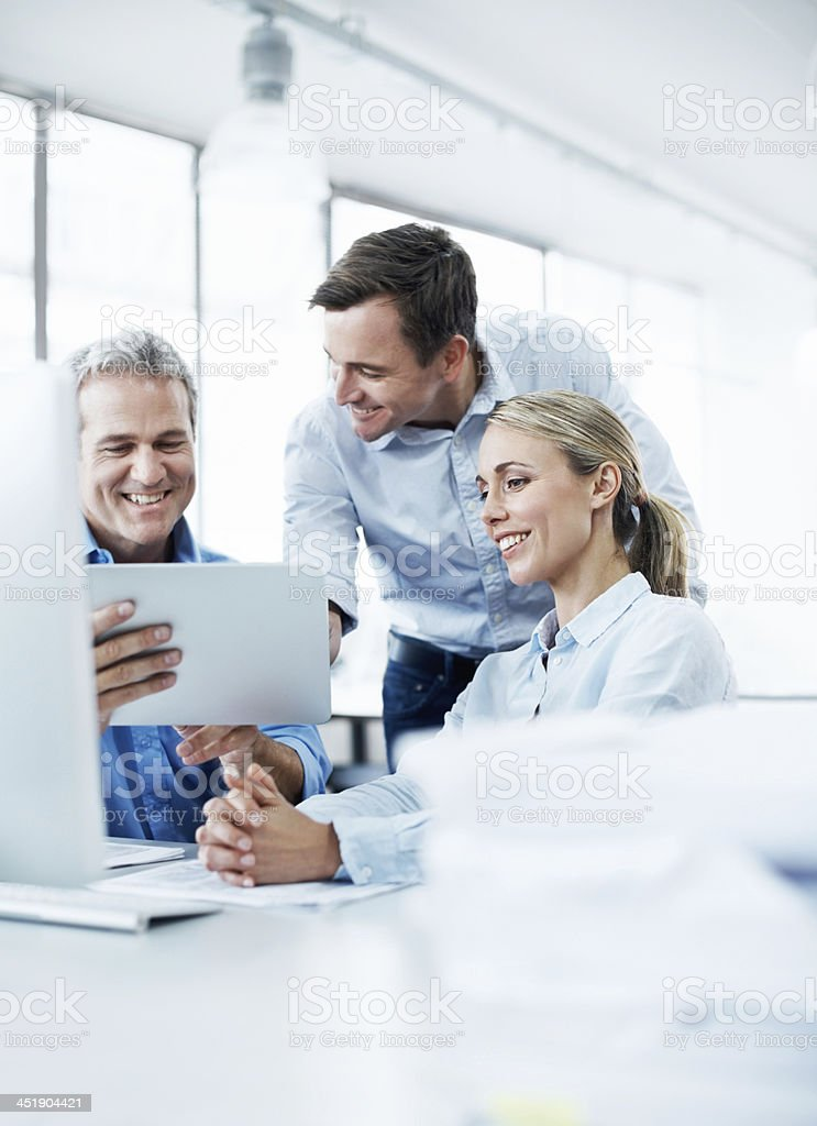 This tablet is so useful! royalty-free stock photo
