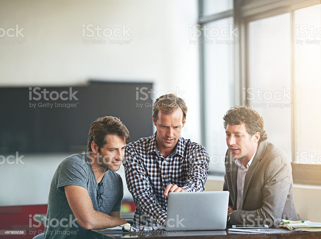This team can perfect anything! stock photo