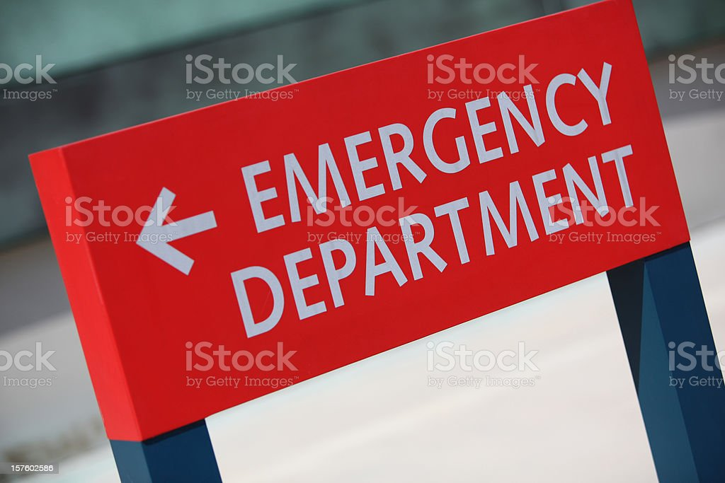 ER This Way in XXX-Large Hospital royalty-free stock photo
