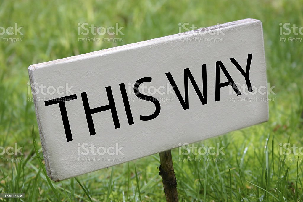 'This Way' royalty-free stock photo