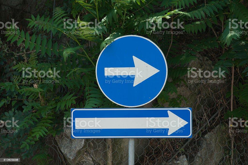 This way! stock photo