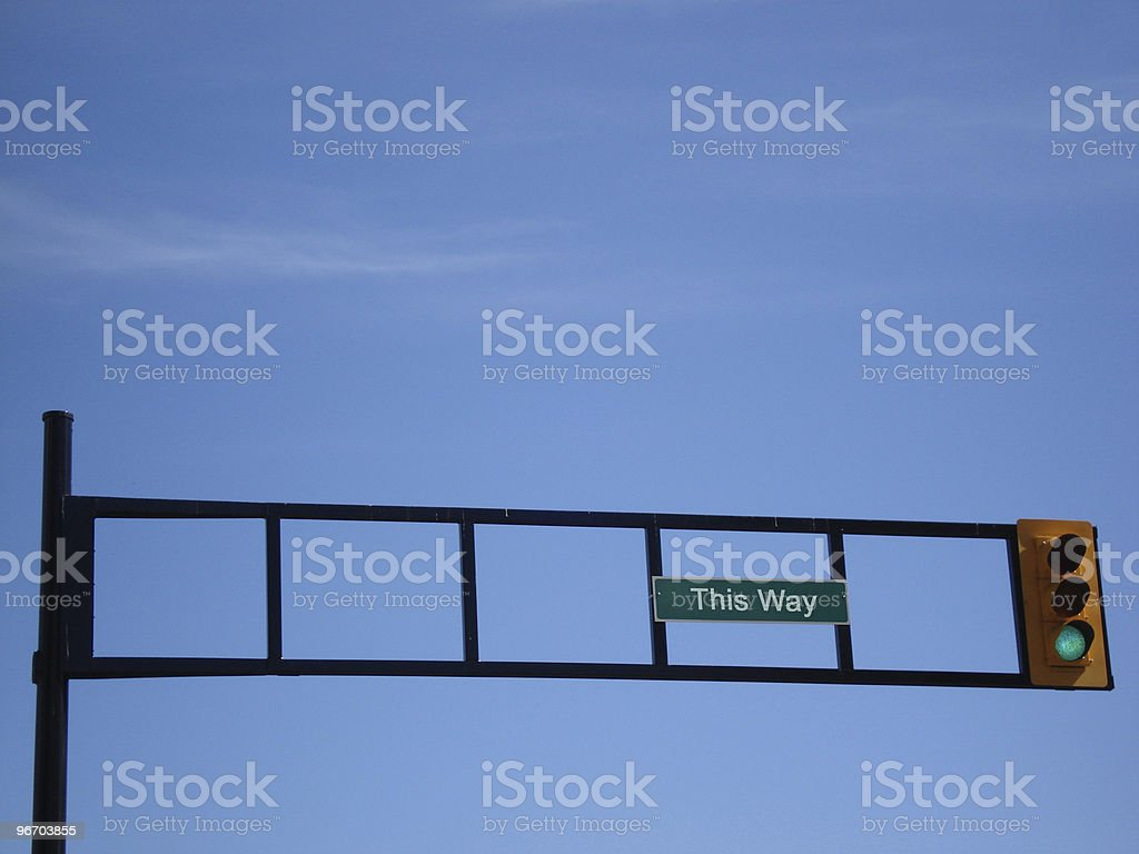 this way sign royalty-free stock photo