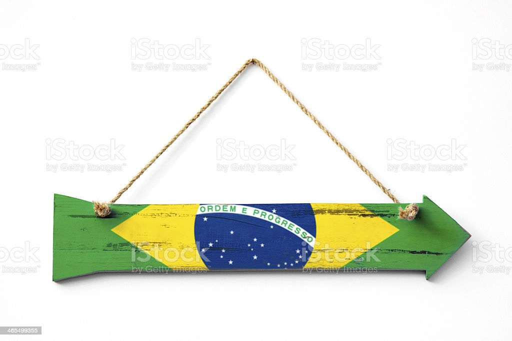 This way to Brazil royalty-free stock photo