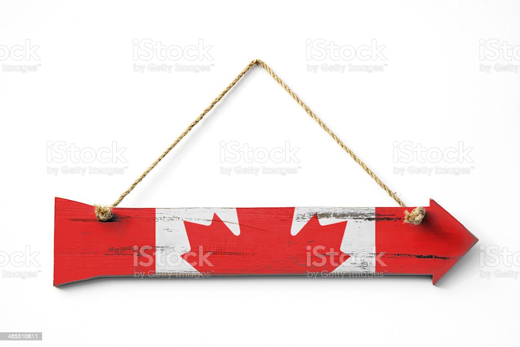 This Way To Canada royalty-free stock photo