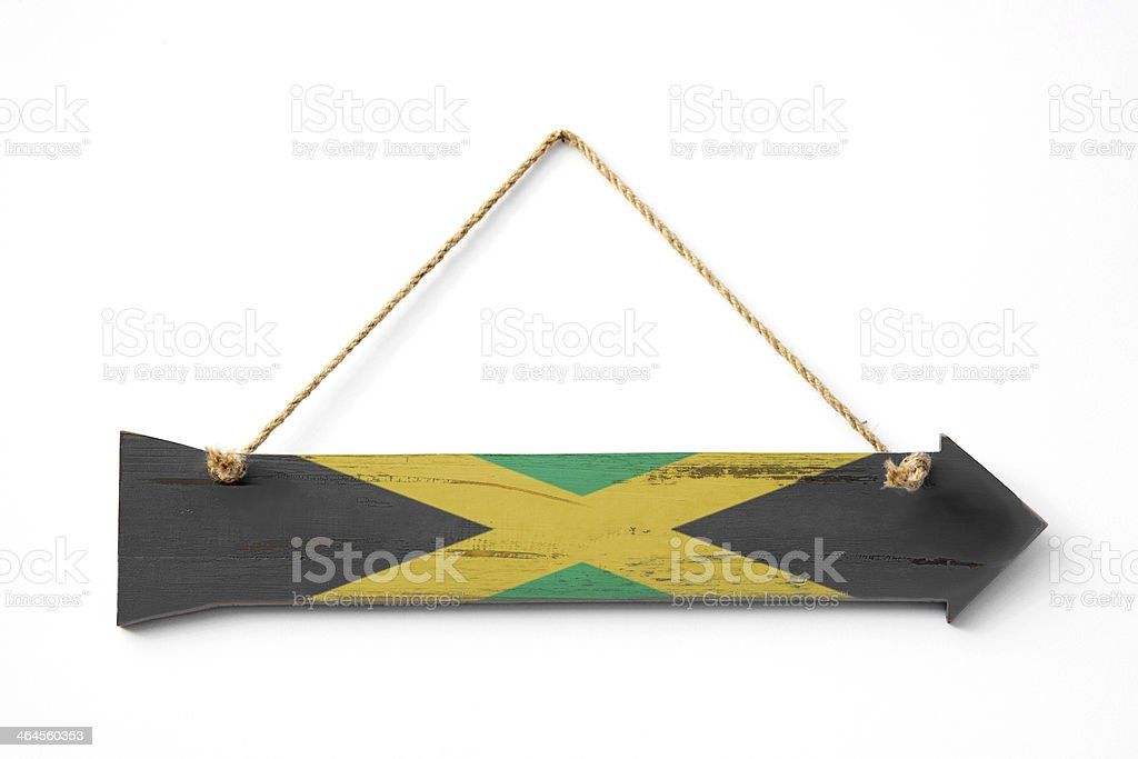 This way to Jamaica royalty-free stock photo