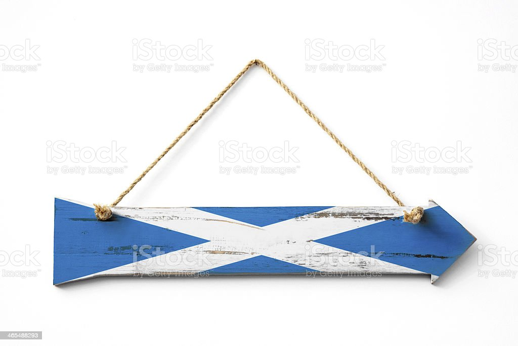 This way to Scotland royalty-free stock photo